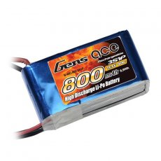 Gens Ace 3s 800mAh 40C Lipo with BEC plug