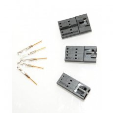5x Molex male connector 5 pin with crimp terminals
