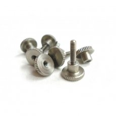 Knurled Screws for fast mount and demount of the...