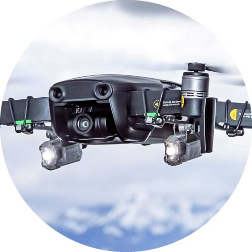 Roboterwerk - SELFIE Mavic Air Dual LED 90 Lumen, neigbar