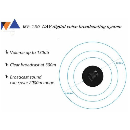 Audio Broadcast System MP-130 for DJI Matrice 200/300 Series